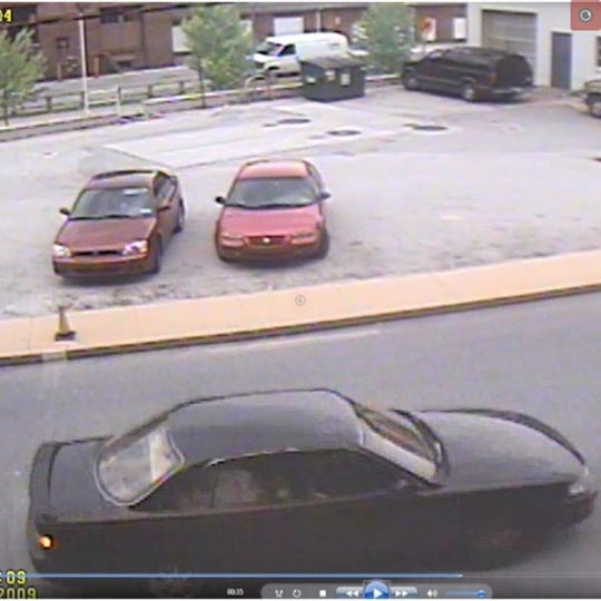 State police said this dark-colored moving car fatally struck Gladys Wheat on May 11, 2009, then fled the scene. Police are still trying to bring the hit-and-run driver to justice.