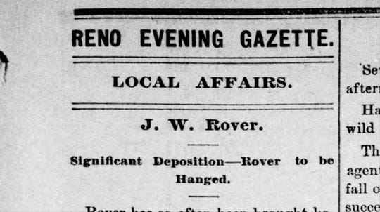 Excerpt from the Jan. 15, 1878 edition of the Reno Evening Gazette