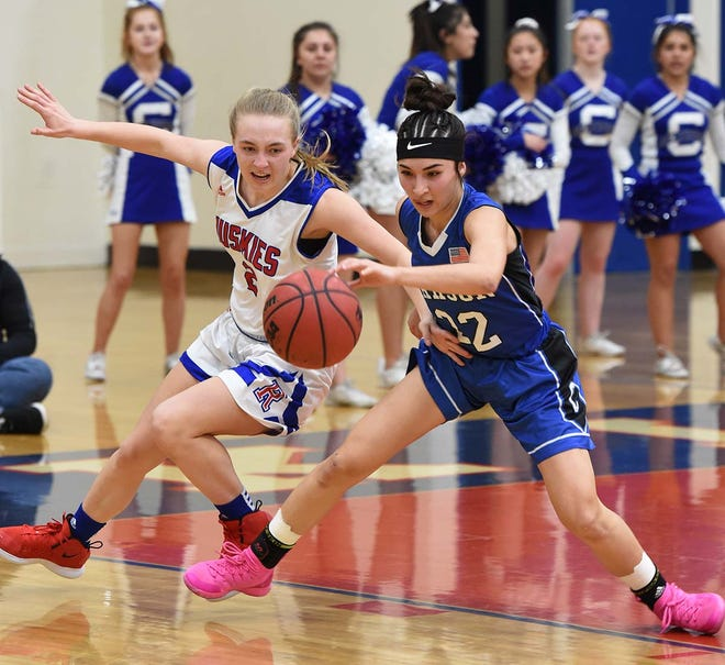 Images of people and action at the Carson at Reno girls playoff game on Feb. 18, 2020. Carson best Reno 43-41.