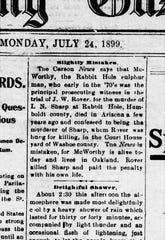 Excerpt from the Reno Evening Gazette, July 24, 1899