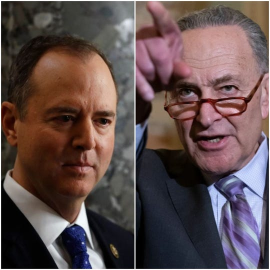 Rep. Adam Schiff, D-California, and Sen. Chuck Schumer, D-New York.