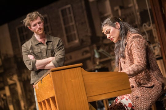 """Lead characters bond over music and heartache in """"Once"""" at Geva."""