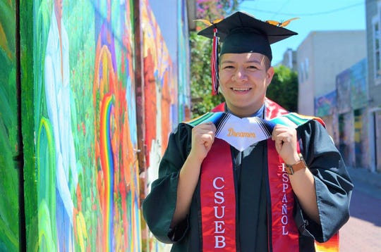 Jairo Barba graduated from Cal State University, East Bay and is now enrolled in a master's program at San Francisco State. He was born in Mexico and arrived in the US when he was 12.