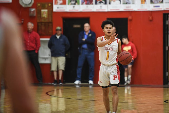 Guard Nate Jean-Pierre (1) and the Palma Chieftains are seeded no. 1 in the CCS Division IV playoffs.