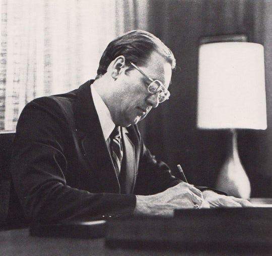 1974: Robert Spence in his first year as Evangel president.