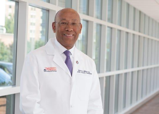 Doctor David Wilkes, dean of University of Virginia Health System's School of Medicine in Charlottesville, Virginia.