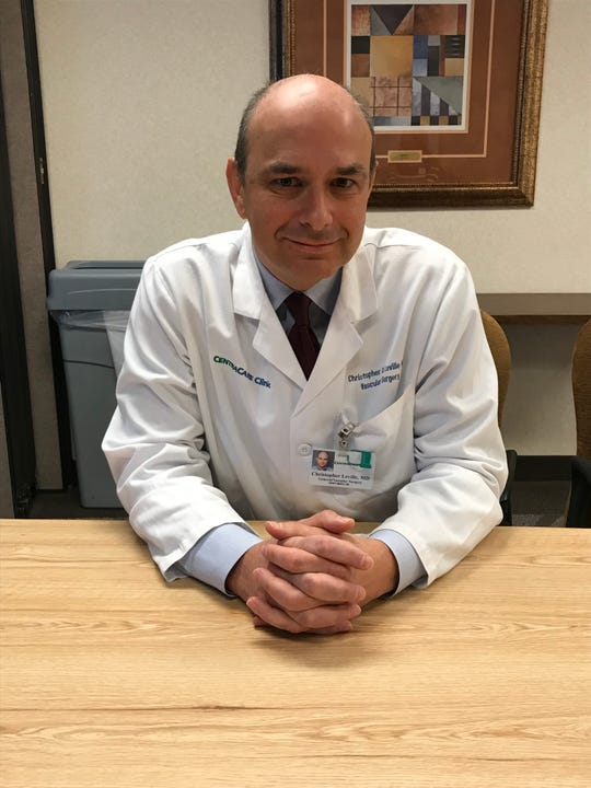 Christopher Leville, a vascular surgeon at CentraCare Health, is pictured Wednesday, Feb. 19, 2020, at the St. Cloud Hospital.