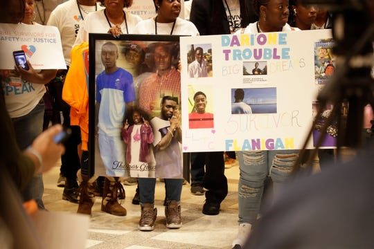 Hundreds of survivors of violent crimes flocked to the Capitol for the Survivors Speak rally this week. They gathered in the fourth floor rotunda for a vigil to remember the victims of crimes Tuesday, Feb. 18, 2020.