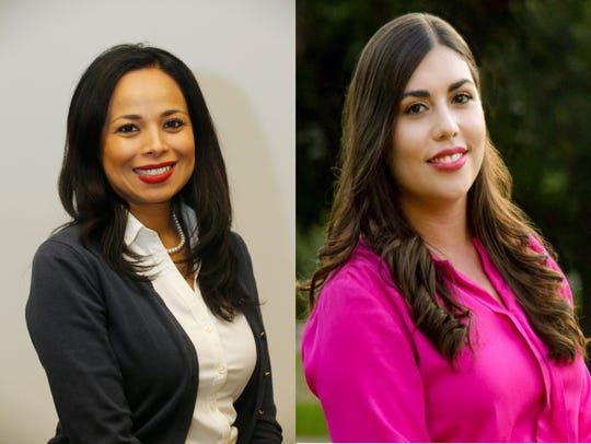 State representative District 76 candidates Claudia Ordaz Perez, left, and Elisa Tamayo.
