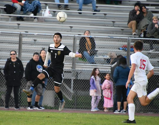Channel Islands winger Jose Ortiz scored the lone goal on Saturday night as the Raiders advanced to their four CIF-Southern Section final with a 1-0 win at La Habra in the Division 2 semifinals.