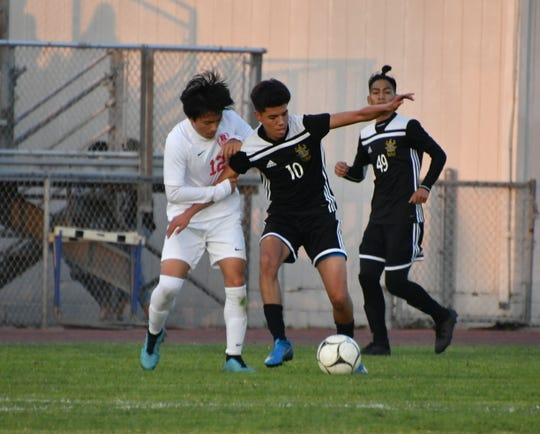Daniel Orozco of Channel Islands, right, is the Offensive Player of the Year for the Pacific View League.