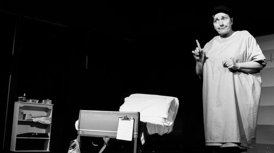"""Sindy McKay-Swerdlove plays Dr. Vivian Bearing in """"Wit,"""" which opensFeb.21 atThe Elite Theatre in Oxnard."""