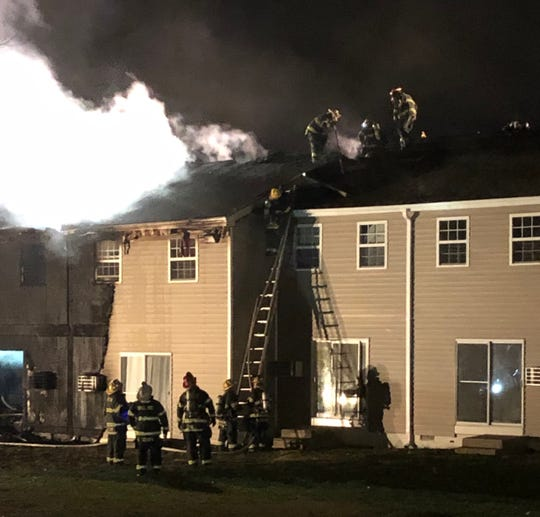 A fire at the Walnut Manor apartment complex in Vineland damaged several units on Feb. 18, 2020.
