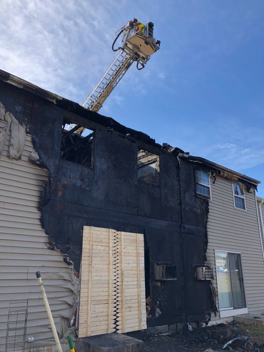 Vineland firefighters returned to the Walnut Manor apartment complex on Wednesday trying to determine what sparked the Feb. 18, 2020 fire.