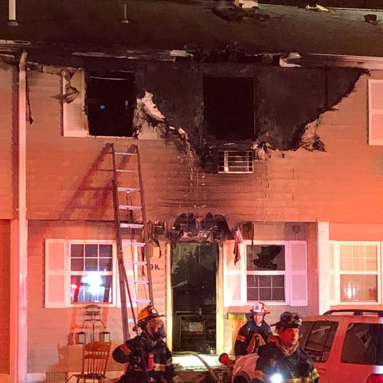 No injuries were reported when a fire broke out Feb. 18, 2020 at the Walnut Manor apartment complex.