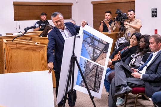 David Venturella speaks to the city of McFarland's Planning Commission during public comment on Tuesday, February 18, 2020. There were supporters and opponents to a plan that would convert two state prison facilities into for-profit immigration detention centers.