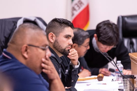 The city of McFarland's Planning Commission takes public comment on Tuesday, February 18, 2020. There were supporters and opponents to a plan that would convert two state prison facilities into for-profit immigration detention centers.