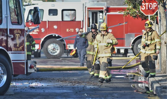 Porterville Public Library was destroyed in a fire on Tuesday, February 18, 2020. Two Porterville firefighters were killed in the blaze.
