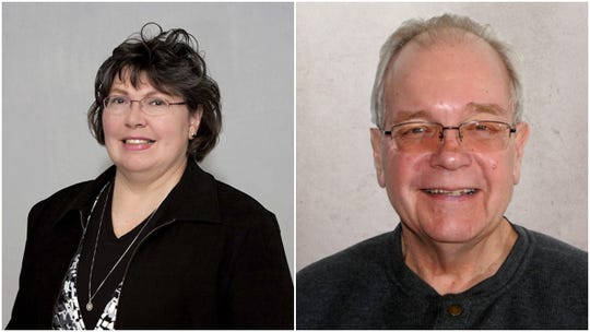 Candidates for Wausau City Council's 10th district, Sherry Abitz, left, and Lou Larson.
