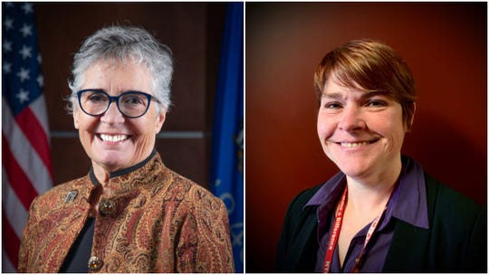 Candidates for Wausau's 8th City Council district, incumbent Linda Lawrence, left, and Sarah Watson.