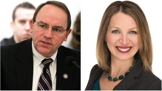 The candidates for Wisconsin's 7th Congressional District: Republican Tom Tiffany, left, and Democrat Tricia Zunker.
