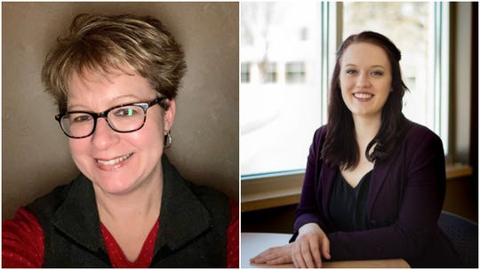Candidates for Wausau City Council's 7th district, incumbent Lisa Rasmussen, left, and Tracey Wheatley.