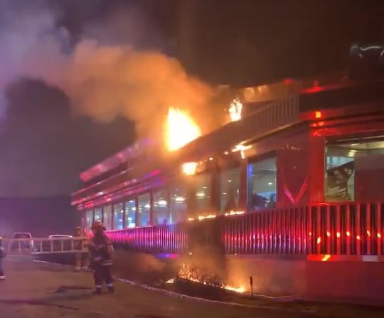 A fire damaged the Mount Ivy Diner in Ramapo on Feb. 18, 2020.