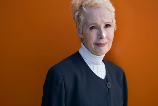 "FILE - In this June 23, 2019, file photo, E. Jean Carroll poses for a photo in New York. Lawyers for Carroll, who has accused President Donald Trump of raping her in the 1990s, told a court Tuesday, Feb. 18, 2020 he's trying ""to stop the truth from ever coming out"" by attempting to delay her defamation lawsuit and her effort to get his DNA. (AP Photo/Craig Ruttle, File)"