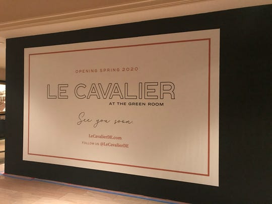 The new Le Cavalier at the Green Room restaurant in Wilmington's Hotel du Pont is expected to open before Mother's Day this year.