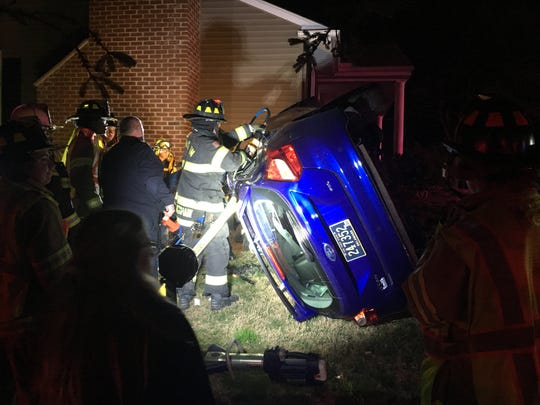 A 34-year-old Hockessin man was charged with his sixth DUI after he flipped his car into the yard of a Hockessin home Tuesday night, Delaware State Police said.