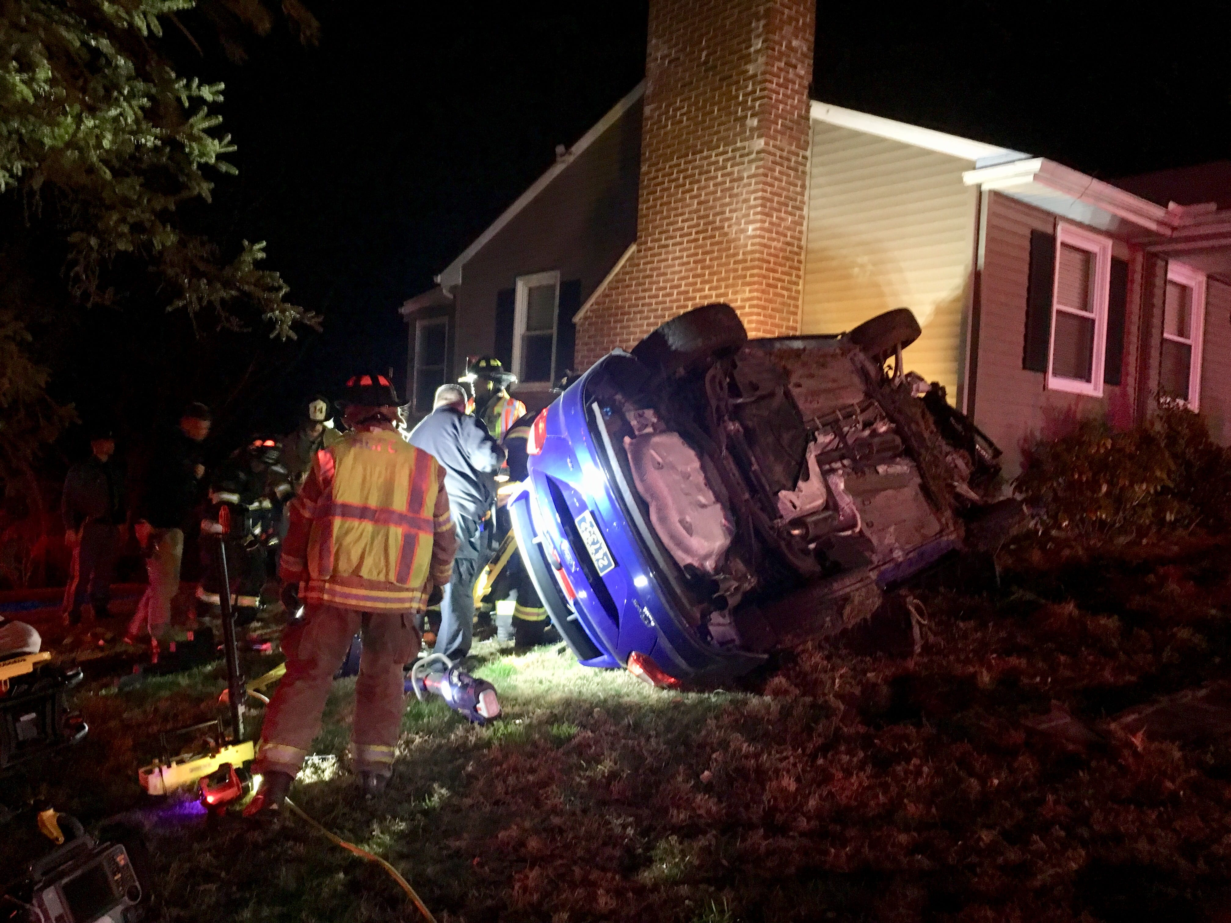 Man charged with 6th DUI after flipping car into yard of Hockessin home