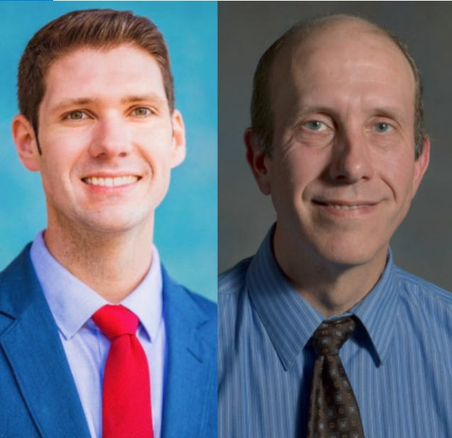 Mayor Zach Vruwink (left) and Shane Blaser (right)