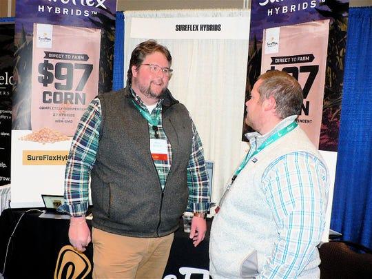 Mitch Rowe, left, started SureFlex Hybrids four years ago.