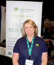 Jacquie Breunig, of John Deere Financial, is also a dairy farmer.