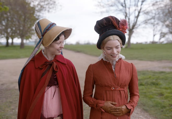 """Mia Goth (left) as """"Harriet Smith"""" and Anya Taylor-Joy (right) as """"Emma Woodhouse"""" in director Autumn de Wilde's EMMA., a Focus Features release.  Credit : Focus Features"""