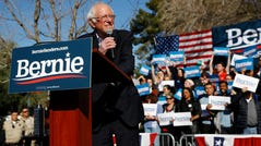 Democratic presidential candidate Sen. Bernie Sanders, I-Vt., speaks during a campaign event at the University of Nevada, Las Vegas, Tuesday, Feb. 18, 2020, in Las Vegas. (AP Photo/Patrick Semansky) ORG XMIT: NVPS122