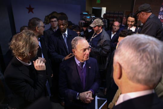 Mike Bloomberg campaigns in Sacramento, Calif.