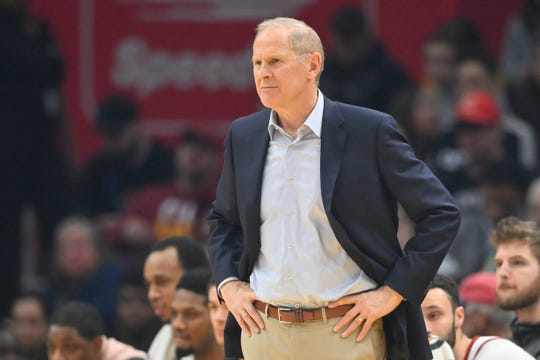 John Beilein during a January game between the Cavs and Raptors.