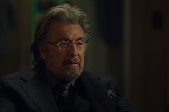 """Al Pacino gets another chance to scarf up scenery in """"Hunters."""""""