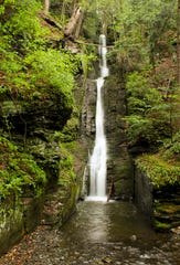 Silverthread Falls at Delaware Water Gap National Recreation Area.