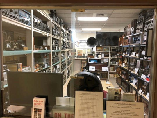 A window through time: Decades of radios await in the Elm Building at A-B Tech.