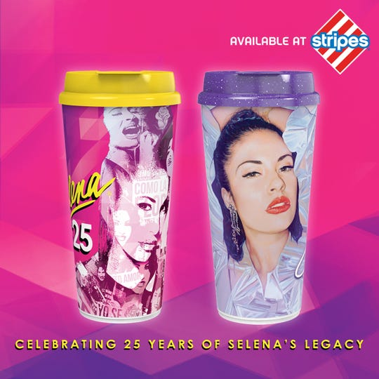 Stripes stores plans to release two collectible cups on Saturday, Feb. 29 that will celebrate 25 years of Selena Quintanilla-Perez's legacy.