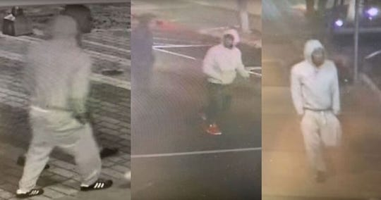 Corpus Christi police are seeking three men suspected of robbing a city councilman on Feb. 19, 2020 in the 400 block of Chaparral Street. Anyone with information should call Crime Stoppers at 361-888-8477.