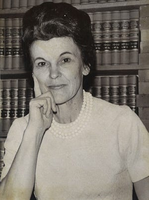 Winifred Rachel Littlejohn became the first female district judge in South Texas when she was sworn into office in January 1975 for the 156th District Judicial seat.