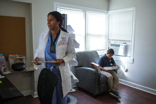 Dr. Jimie Owsley is an Army veteran and surgeon for Christus Spohn Health System. She also runs The People's Clinic, a low-cost health clinic for the un- and under-insured in Corpus Christi.