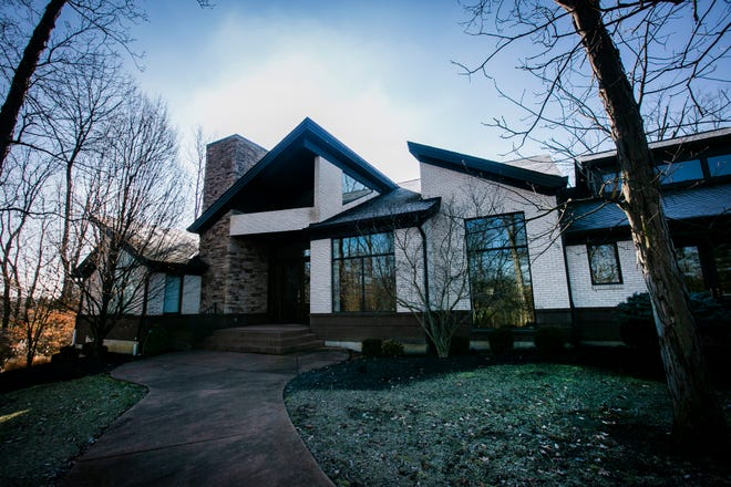 The custom-built house at 2070 Winding Creek Lane was custom built by Jim Daniels and designed by Architectural firm Norris & Deckers.
