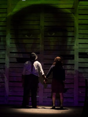 """A promotional image for the Cincinnati Black Theatre Company's production of """"Anne & Emmett,"""" which imagines a blunt conversation between two murdered teenagers – one during the Holocaust, the other in 1950s Mississippi."""
