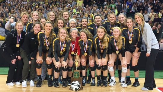 The 2017 Ursuline Academy state champion volleyball team roster includes: Peyton Breissinger, Logan Case, Emma Gielas, Maggie Huber, Suzanna Lang, Chloe Metzger, Katie Meyer, Neely Reilly, Lexi Reinert, Amanda Robben, Maddy Taylor, Ali Thompson, Abby Wandtke, Julia Wilkins; managers Annie Groeschen, Margot King and Izzy Meehan; head coach Jeni Case; assistant coaches Dani Reinert and Mallory Bechtold.
