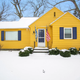 The UM gold and blue home is on the market in Hamilton, Michigan for $169,000.