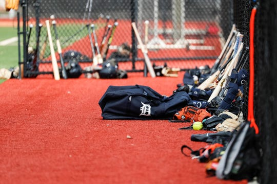 Minor league practice during Detroit Tigers spring training at TigerTown in Lakeland, Fla., Thursday, Feb. 20, 2020.